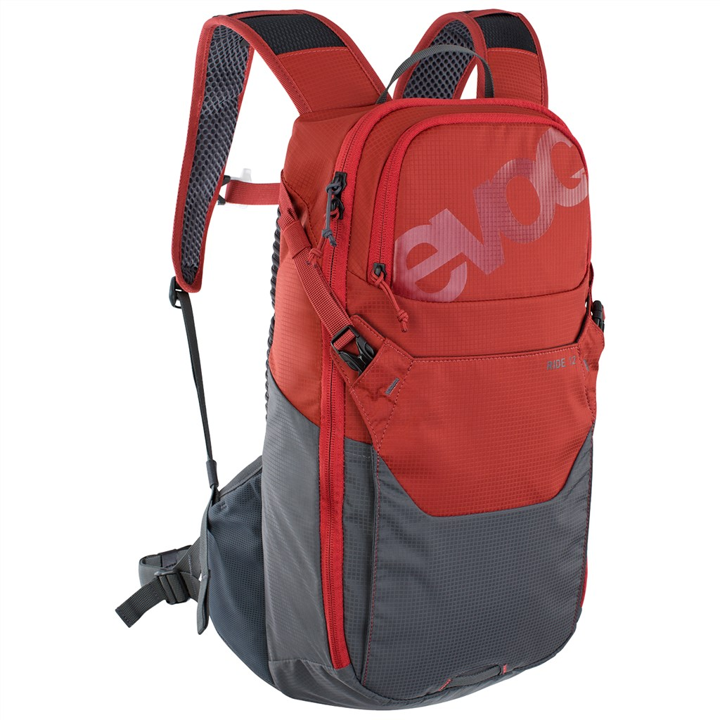 Evoc - Ride 12L Backpack - chili red/carbon grey