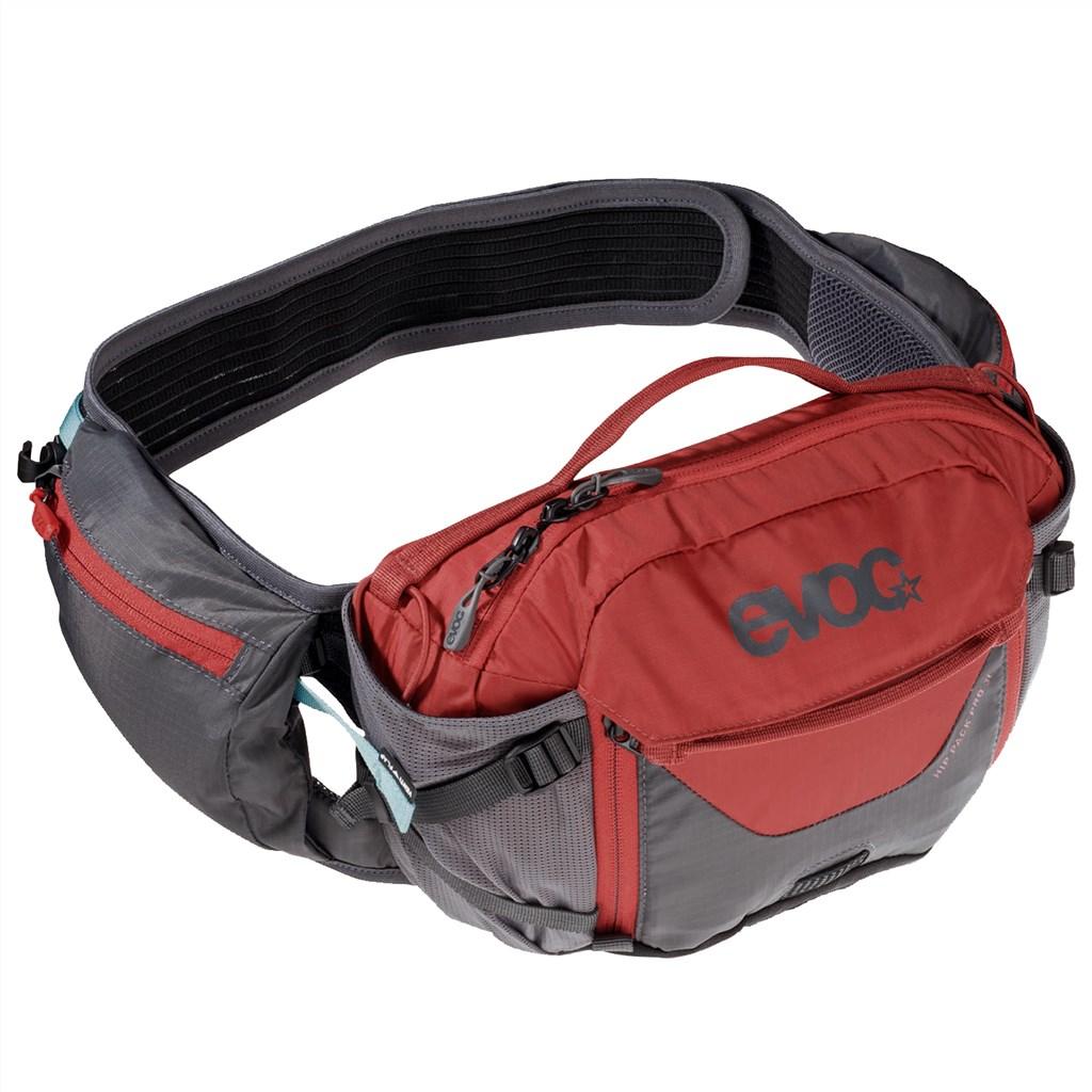 Evoc - Hip Pack Pro 3l + 1,5l Bladder - carbon grey/chili red