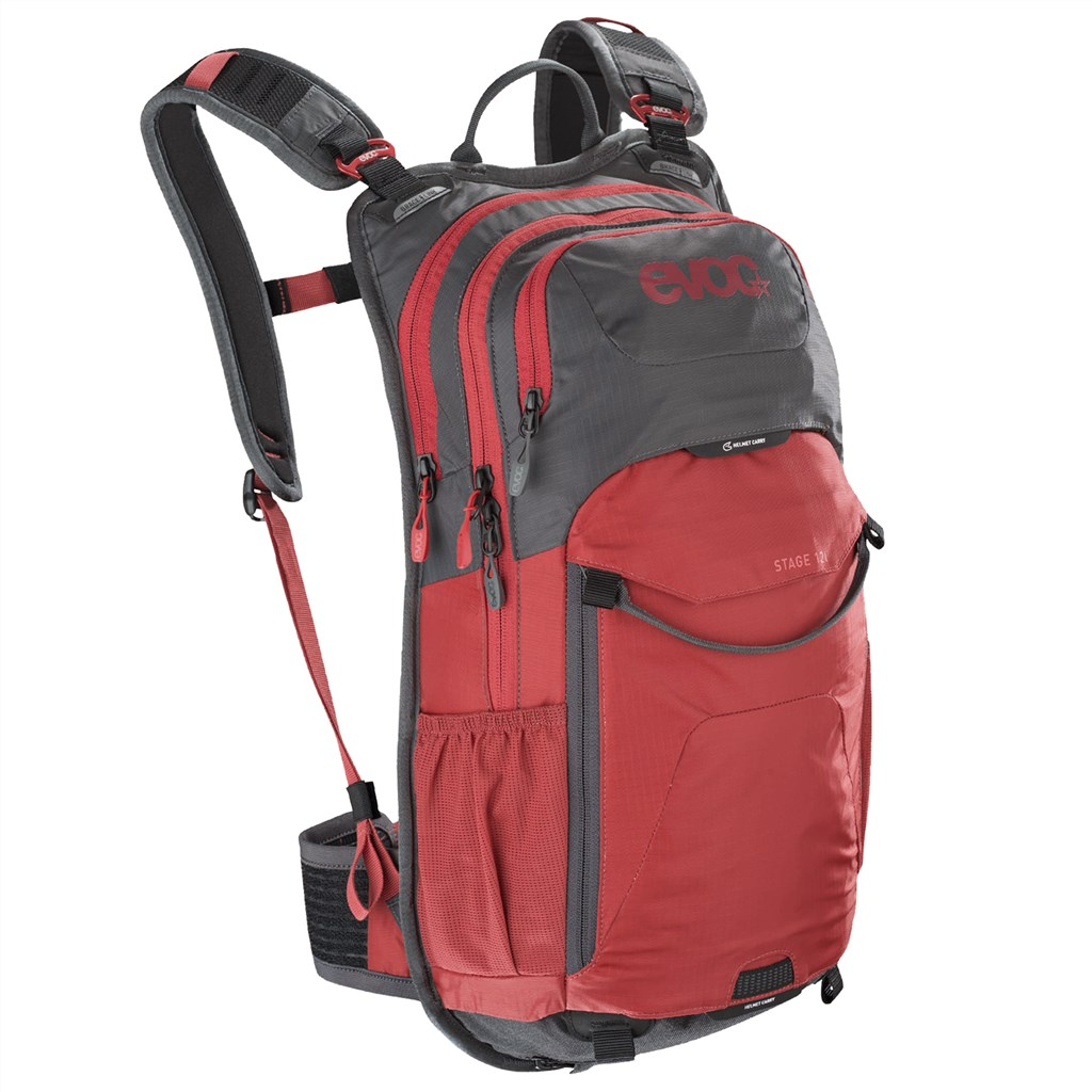 Evoc - Stage 12L Backpack - carbon grey/chili red