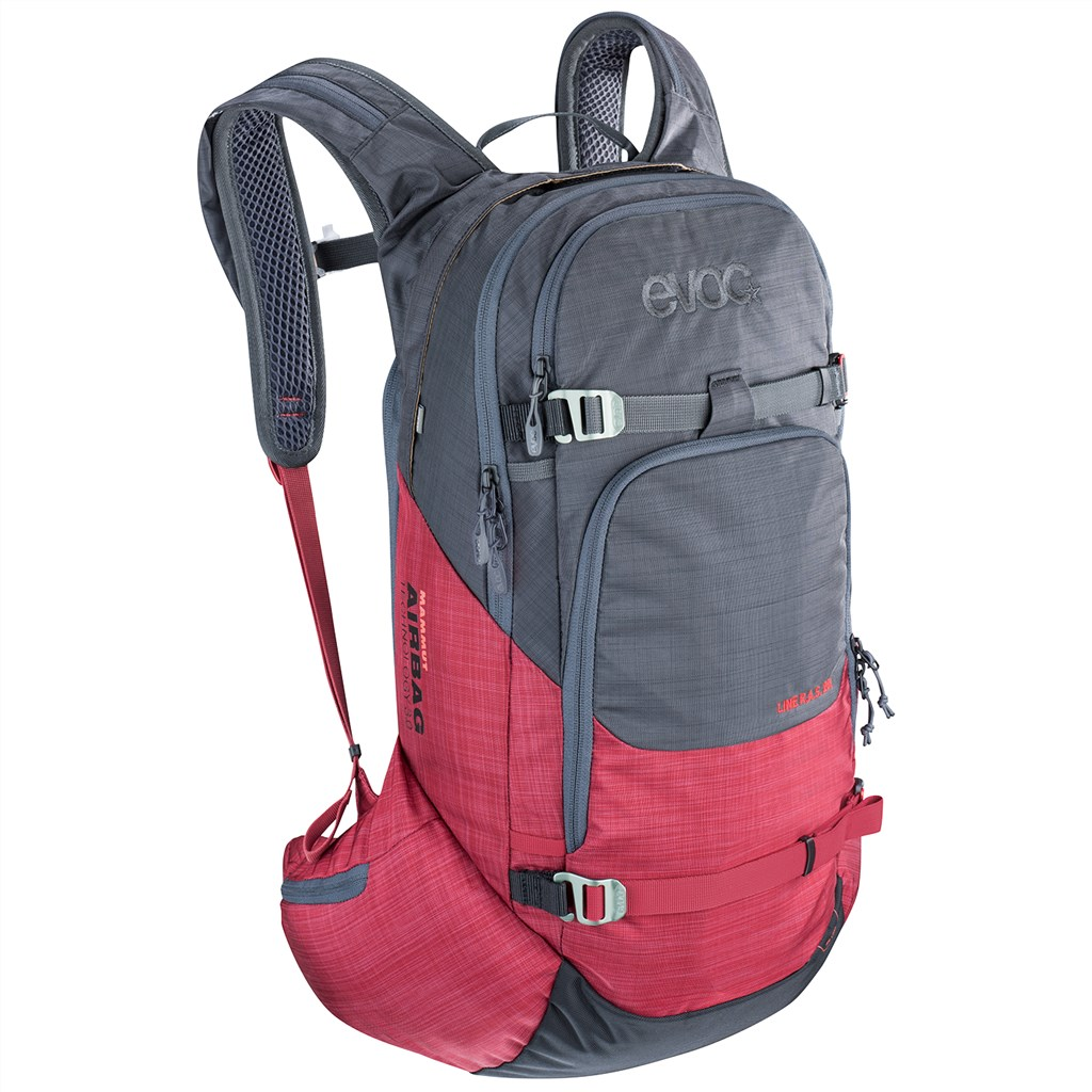 Evoc - Line R.A.S. 20l Backpack - heather carb grey/heather ruby