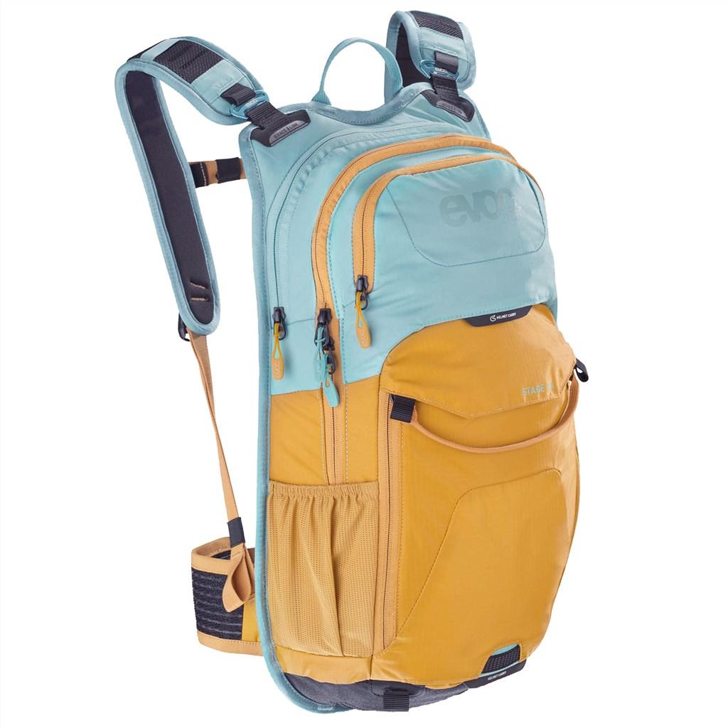 Evoc - Stage 12L Backpack - aqua blue/loam
