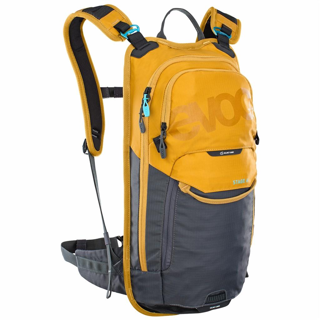 Evoc - Stage 6L Backpack + 2L Bladder - loam/carbon grey