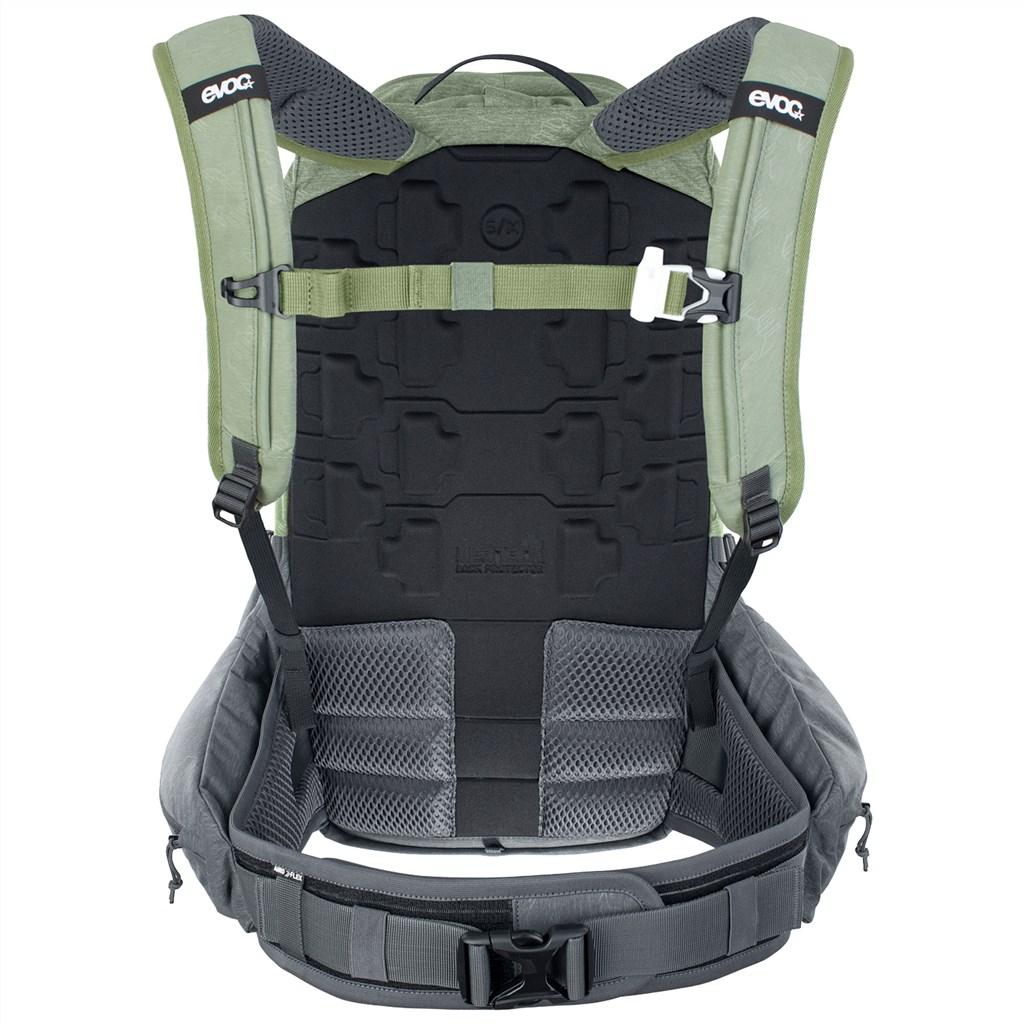 Evoc - Trail Pro 16L Backpack - light olive/carbon grey