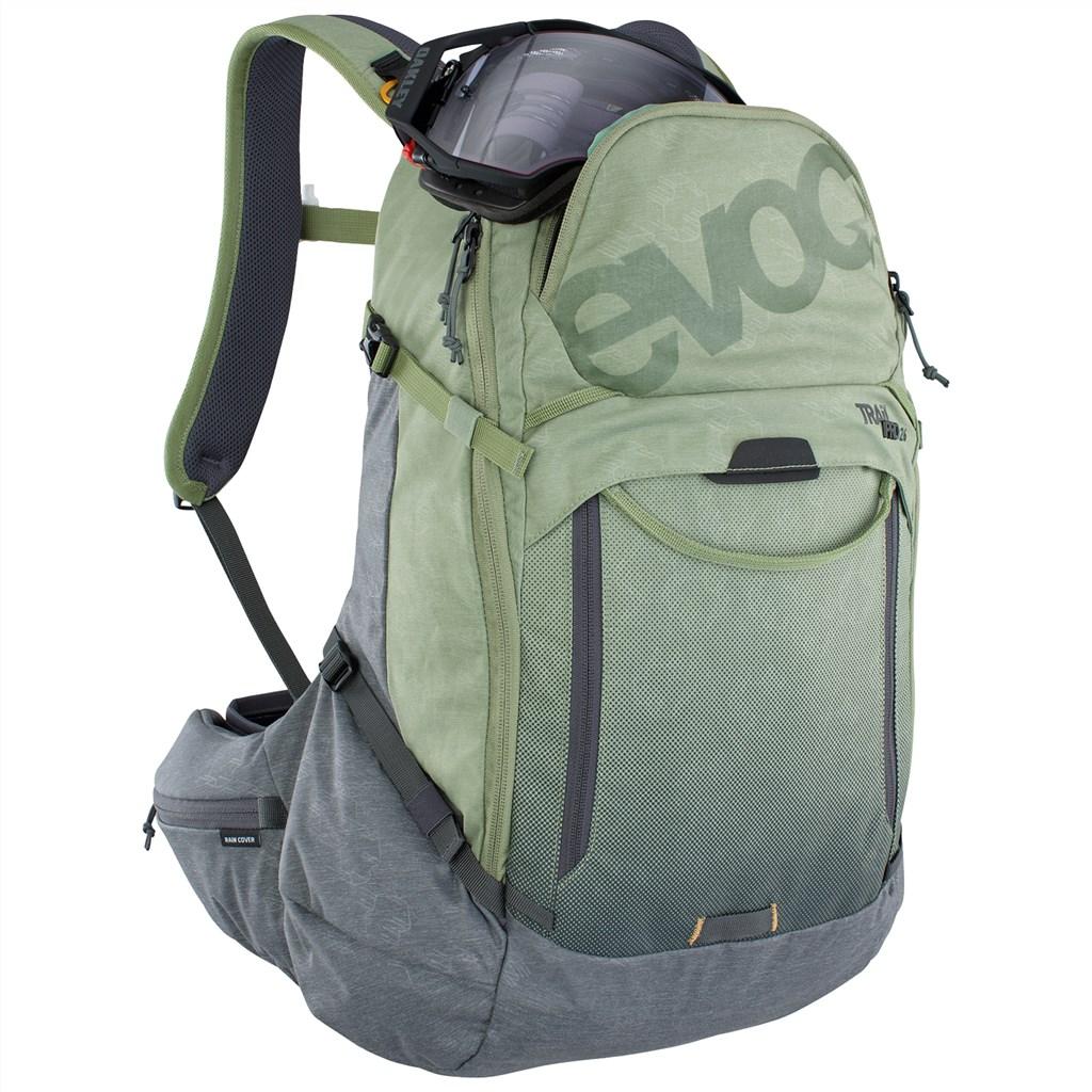 Evoc - Trail Pro 26L Backpack - light olive/carbon grey
